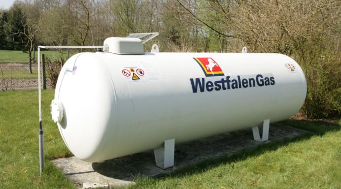 Westfalengas im oberirdischen Flüssiggasbehälter