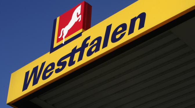 Dachblende einer Westfalen Tankstelle