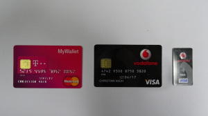 MyWallet, Vodafone Wallet und Aufkleber