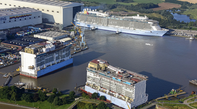 Quantum of the Seas, Float out  (Copyright: MEYER WERFT)
