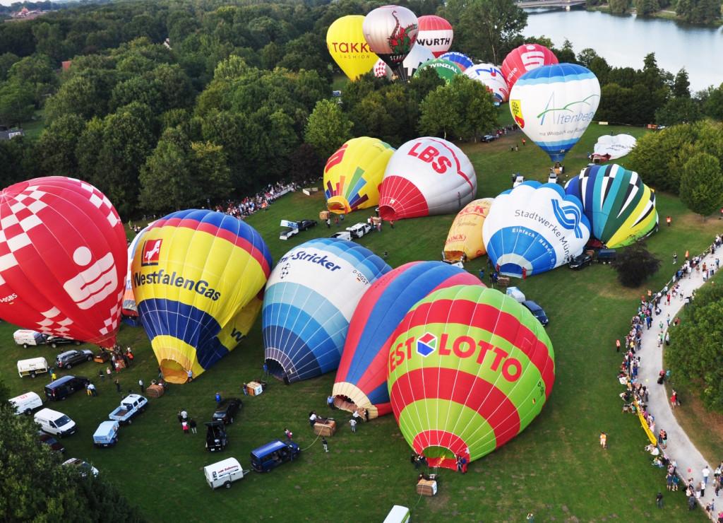 Aufrüsten der Ballone