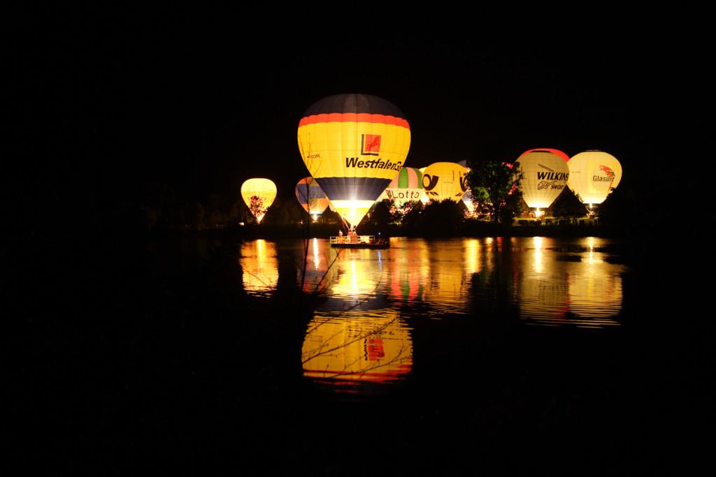 Ballonglühen auf dem Aasee