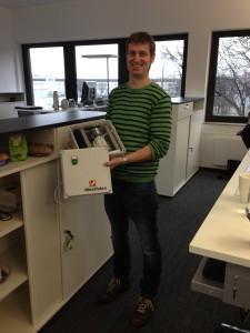 Martin Börger mit einer Datafer-DFÜ